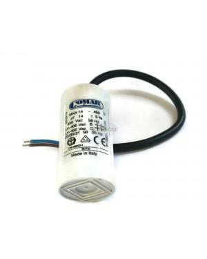 Made in Italy Motor Electrolytic Comar Condenser Capacitor wire MKA 14UF - 13.5 UF ~ 14UF 14.5 14.7 UF 450V 450Vac