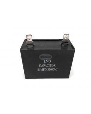 19uf 21uF 20uF Generator Capacitor Condenser 2 Pin AVR Cbb61 20 Uf 50 60hz 350v Ac Pin Style Square Engine