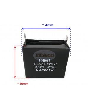Brand 23uF 24uF 25uF Generator Capacitor AVR Cbb61 24 Uf 50 60hz 350v Ac Pin Style