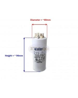 Made in Italy Motor Electrolytic Comar Condenser Capacitor MKA 25 UF - 23.8UF ~ 25UF ~ 26.25UF 24uF 26uF 450V Vac