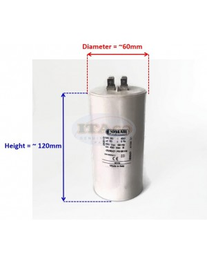 Made in Italy Motor Electrolytic Comar Capacitor 80UF Condenser 450V Vac MK 76uF ~ 84uF 77UF 78UF 79uF 81uF 82uF 83UF