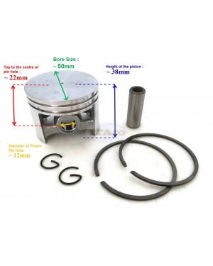 Piston Kit Ring Set 1119 030 2001 1119 034 3000 For STIHL Chainsaw 038 Super 038 SW 038FB S 50MM Engine