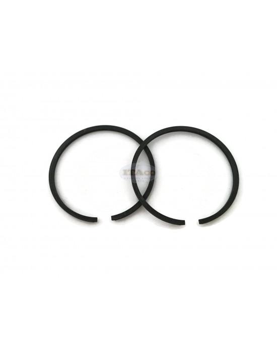 2 pcs Piston Rings Ring Set for Tanaka TBC-250PF TBC-260PF TBC-265 Active BIG 3.2 Husqvarna 26 Alpina VIP 25 - 30 33mm x 1.5mm - Rep 04101601200 Brushcutter Trimmer Chainsaw Engine