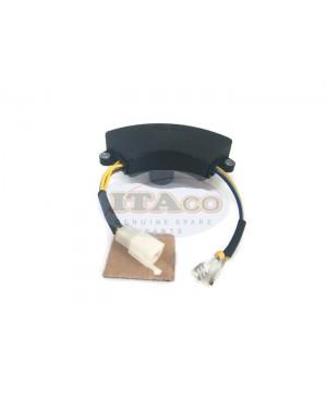 AVR Automatic Voltage Regulator for Engine Generator 2kw 2.2kw 2.5kw 2.8kw 3kw Halfmoon Style Black