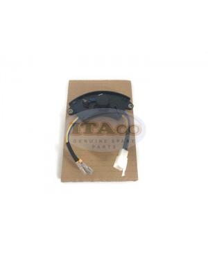 250V 220uF 2KW-3KW AVR Automatic Voltage Regulator Rectifier Generator 2KVA-3KVA PLASTIC Square Black