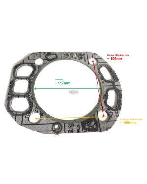 For Cylinder Head Gasket 105700-01330 for Yanmar TF135 TF140 TF155 TF160 Cylinder Water Cooled Diesel Engine