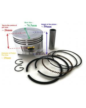 Piston Kit Ring Set Assy 13101-ZH9-000 Honda GX270 UT HH928 9HP 77MM STD Lawnmower Trimmer Engine