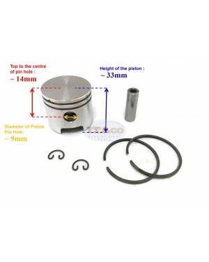Piston Kit Ring Set Assy For Tanaka TBC 328 Sum Chinese BG328 36MM Brush Cutter Weedeater Grass Cutter Trimmer Engine