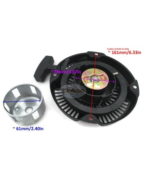 Pull Recoil Rewind Stater with Pulley Cup Assy Kit For Robin Subaru EX21 7HP 278-50201-20 00 Motor Rammer Trimmer Engine