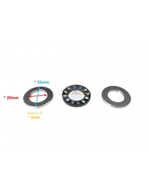 OEM Japan Thrust Bearing Fit Suzuki Outboard DT 9.9HP 15HP 16HP 09263-20024 K 20L04 3pcs
