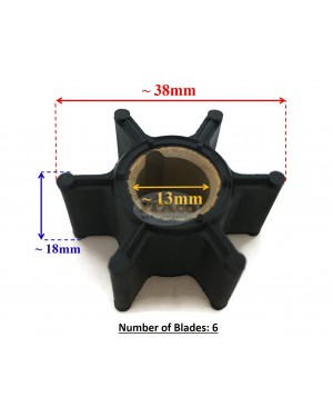 Boat Motor Water Pump Impeller 0386084 386084 for Johnson Evinrude OMC Outboard 9.9HP 15HP Sierra 18-3050 Boat Engine Outboard motor