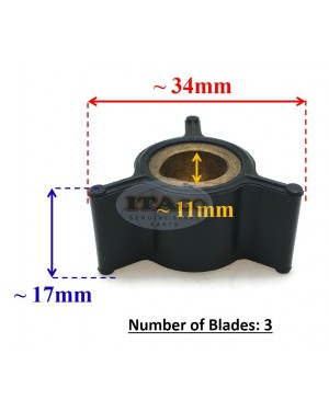 Boat Motor 0433935 433935 433915 396852 CEF 767407 500332 Water Pump Impeller for Johnson Evinrude OMC BRP 2HP 3HP 4HP Outboard Motors Water Pump Parts
