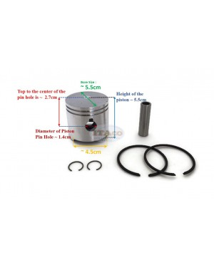 Boat Motor Piston Assy Kit Ring Set 369-00001 for Tohatsu Nissan Outboard M NS 4HP 5HP 4 5 STD 55MM 2 stroke Engine