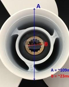Boat Motor T85-04020000 -15 Propeller for Parsun HDX Makara T60 T75 T85 T90 13 1/2X15-K Engine