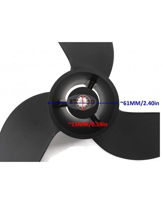 "Boat Motor Propeller Assy for Hangkai F6.5 6.5HP 4-Stroke Outboard Motor Engine 3 x 7.8"" x 8"""
