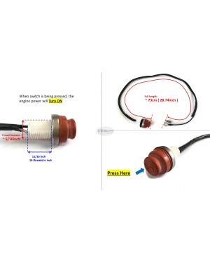 Boat Motor Engine Stop switch Stopswitch Assy 6E0-82550-01 00 for Yamaha Outboard F 4HP 5HP 2/4 stroke Engine