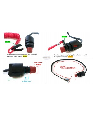 Boat Motor Safety Stop Switch Engine Assy 6K5-82575-00 01 02 03 for Yamaha Outboard F 30HP - 60HP 2/4 stroke Engine