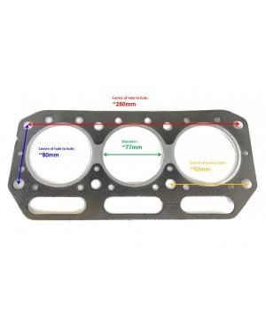 100% Original OEM Diesel Yanmar 121550-01331 S.70616 1220, 1810, 226 Cylinder Head Gasket for YM1220 YM1810 YM220 YM226 YM250 Models Engine Made in Japan
